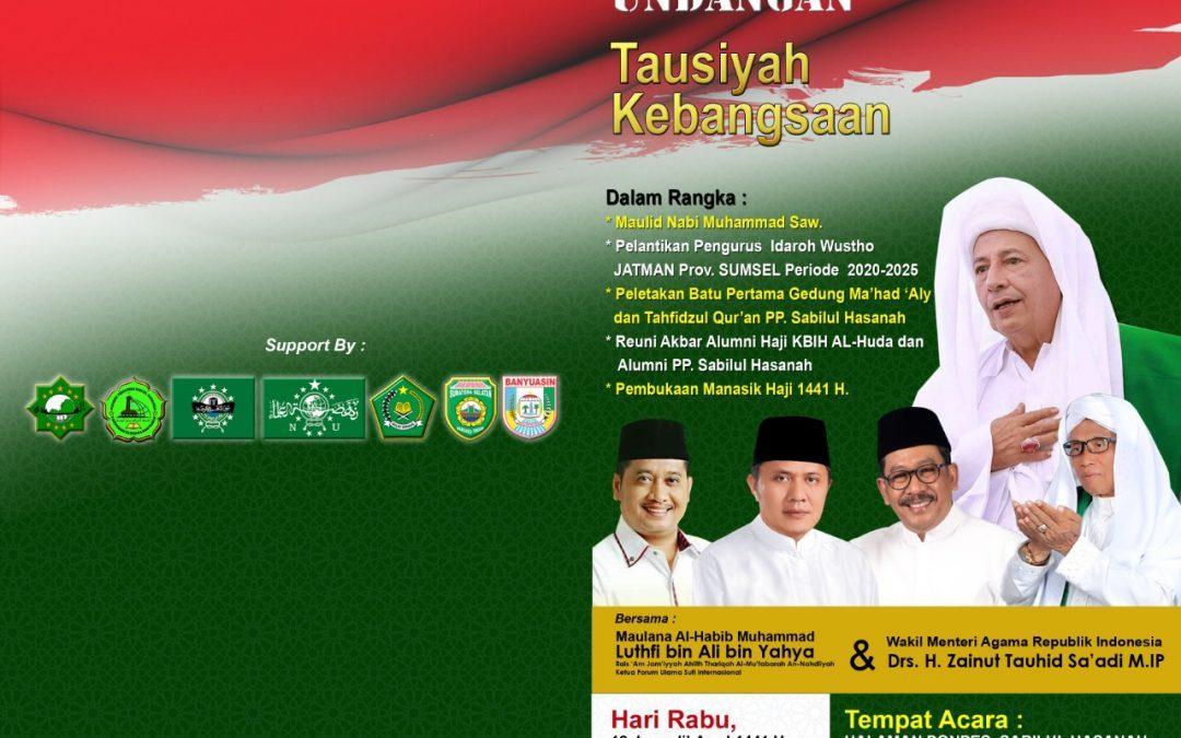 Tausiyah Kebangsaan  Maulana Habib luthfi