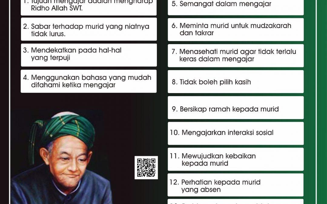 Nasehat Kyai Hasyim As'ari untuk Para Guru