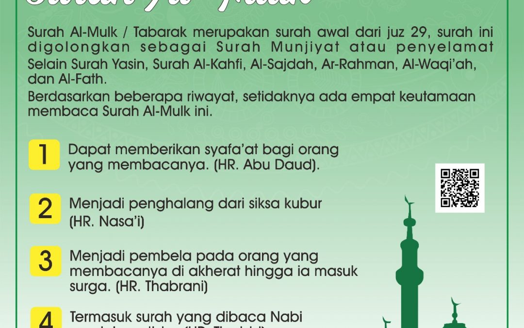 Keutamaan Membaca Surat Al-Mulk